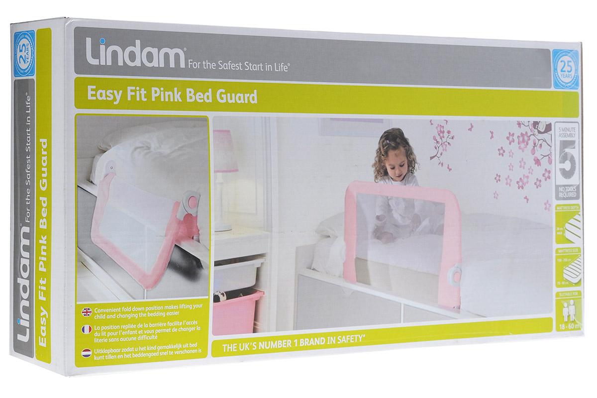 Lindam Бортик защитный для кровати на металлическом каркасе цвет розовыйН0006362Когда малыш переезжает из колыбели или кроватки с бортами во взрослую кровать, всегда существует вероятность, что ворочаясь во сне, он может упасть. Для того чтобы и вы, и ваш малыш хорошо высыпались, и создан защитный бортик для кровати Lindam. Он не позволит малышу упасть или сбросить одеяло. Таким образом, сложный процесс перехода от сна в детской кроватке к одноместной кровати будет значительно упрощен. Особенности: Безопасный и надежный блокирующий механизм; Удобная функция откидывания - легко взять ребенка с кровати и заменить постельное белье; Простая сборка без инструментов; Подходит для кроватей с шириной матраса 75 -90 см, длиной матраса - 150-200 см и высотой до 26 см; Подходит для кроватей с реечным дном, диванов и т.д.; Не подходит для кроватей, в которых матрас крепится к подъемной части конструкции, а также для вторых ярусов двухъярусных кроватей; Возраст ребенка - от 18 до 60 месяцев.