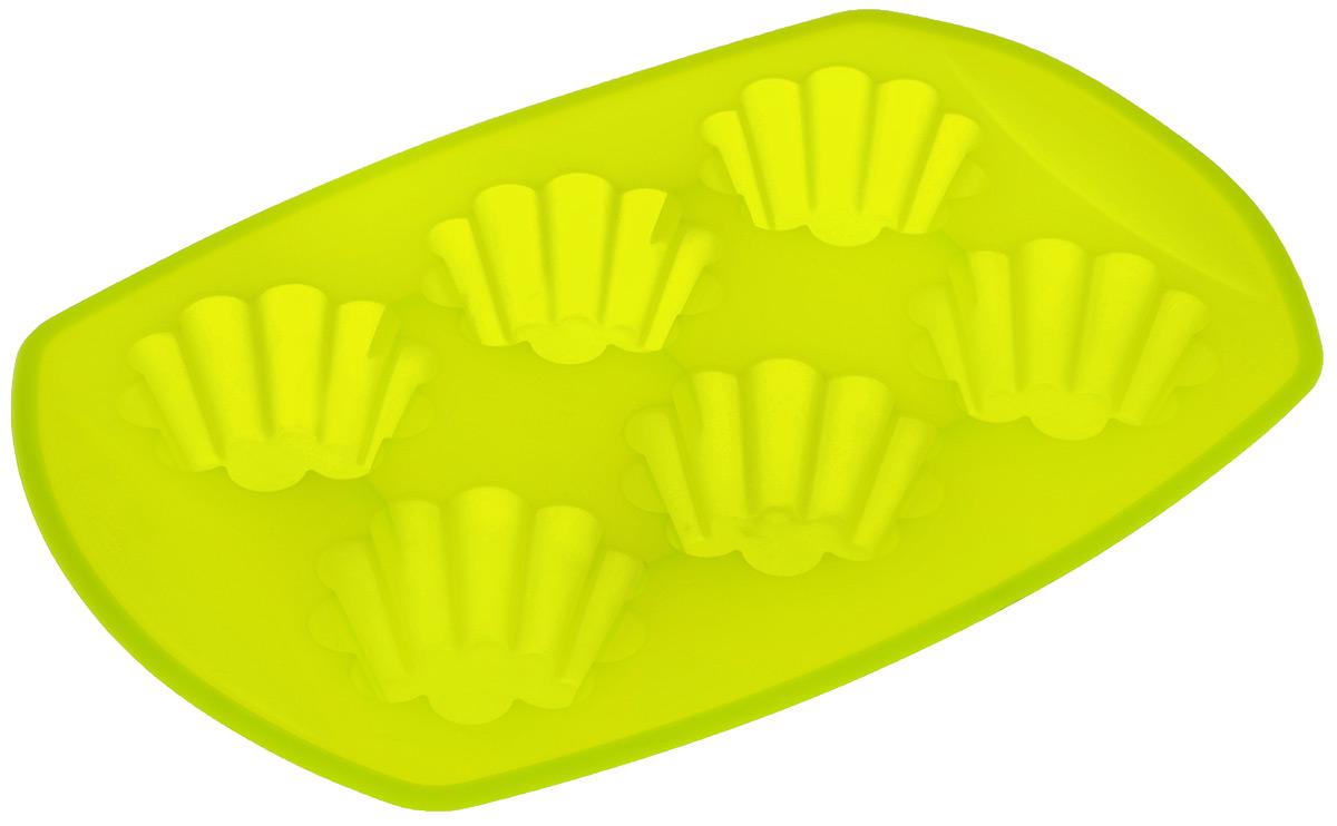 Форма для выпечки Mayer & Boch, силиконовая, цвет: салатовый, 6 ячеек22077_зеленыйФорма для выпечки Mayer & Boch изготовлена из высококачественного силикона. Стенки формы легко гнутся, что позволяет легко достать готовую выпечку и сохранить аккуратный внешний вид блюда. Форма имеет 6 ячеек. Силикон - материал, который выдерживает температуру от -40°С до +230°С. Изделия из силикона очень удобны в использовании: пища в них не пригорает и не прилипает к стенкам, форма легко моется. Изделие обладает эластичными свойствами: складывается без изломов, восстанавливает свою первоначальную форму. Порадуйте своих родных и близких любимой выпечкой в необычном исполнении. Размер формы: 29 х 20 х 3,8 см. Количество ячеек: 6 шт. Диаметр ячейки: 7 см. Глубина ячейки: 3,8 см.