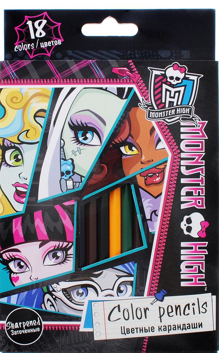 Monster High Набор цветных карандашей 18 цветовMHBB-US1-1P-18Набор цветных карандашей Monster High непременно понравятся вашей юной художнице. Набор включает в себя 18 ярких цветных карандашей. Карандаши изготовлены из натурального экологически чистого дерева. Имеют ударопрочный неломающийся грифель, не требующий сильного нажатия. Двойная проклейка стержня специальным клеем предотвращает поломку грифеля при падении. Легко затачиваются, не крошатся. Порадуйте своего ребенка таким восхитительным подарком! В комплекте 18 заточенных карандашей в удобной выдвижной коробке.