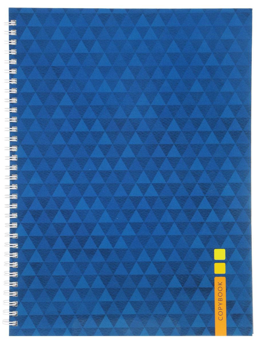 Listoff Тетрадь Синий орнамент 100 листов в клеткуТС41004254Тетрадь Listoff подойдет как школьнику, так и студенту. Выдержанный лаконичный стиль обложки акцентирует внимание на вашей работе. Твердая обложка тетради придает ей прочность и долговечность. Такая обложка подчеркнет вашу индивидуальность. Внутренний блок состоит из 100 листов белой бумаги. Стандартная линовка в фиолетовую клетку без полей. Листы тетради соединены металлическим гребнем.
