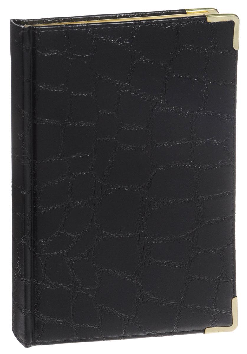 Listoff Книга для записей Grand Croco 120 листов в клетку цвет черныйКЗК51201660Стильная книга для записей - это дополнительный штрих к вашему имиджу. Опрятная и лаконичная книжка может быть использована не только для личных пометок и записей, но и как недатированный ежедневник. Обложка выполнена из высококачественной искусственной кожи, с прострочкой по периметру и поролоновой подкладкой. Металлические скругленные углы защищают книгу от повреждений при активном использовании. Форзацы золотого цвета и ляссе подчеркивают высокий статус изделия. Записная книжка Listoff станет достойным аксессуаром среди ваших канцелярских принадлежностей. Она пригодится как для деловых людей, так и для любителей записывать свои мысли, писать мемуары или делать наброски новых стихотворений.