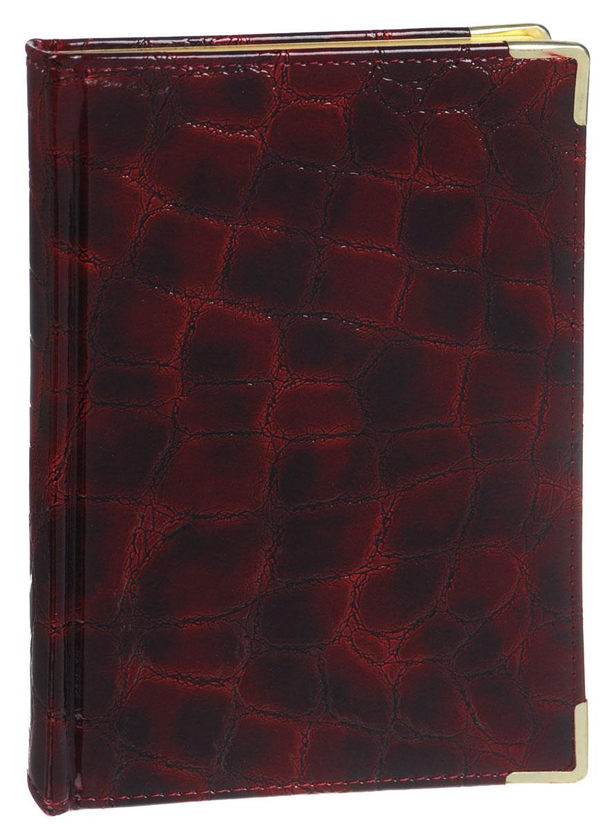 Listoff Книга для записей Grand Croco 120 листов в клетку цвет бордовыйКЗК51201659Стильная книга для записей - это дополнительный штрих к вашему имиджу. Опрятная и лаконичная книжка может быть использована не только для личных пометок и записей, но и как недатированный ежедневник. Обложка выполнена из высококачественной искусственной кожи, с прострочкой по периметру и поролоновой подкладкой. Металлические скругленные углы защищают книгу от повреждений при активном использовании. Форзацы золотого цвета и ляссе подчеркивают высокий статус изделия. Записная книжка Listoff станет достойным аксессуаром среди ваших канцелярских принадлежностей. Она пригодится как для деловых людей, так и для любителей записывать свои мысли, писать мемуары или делать наброски новых стихотворений.