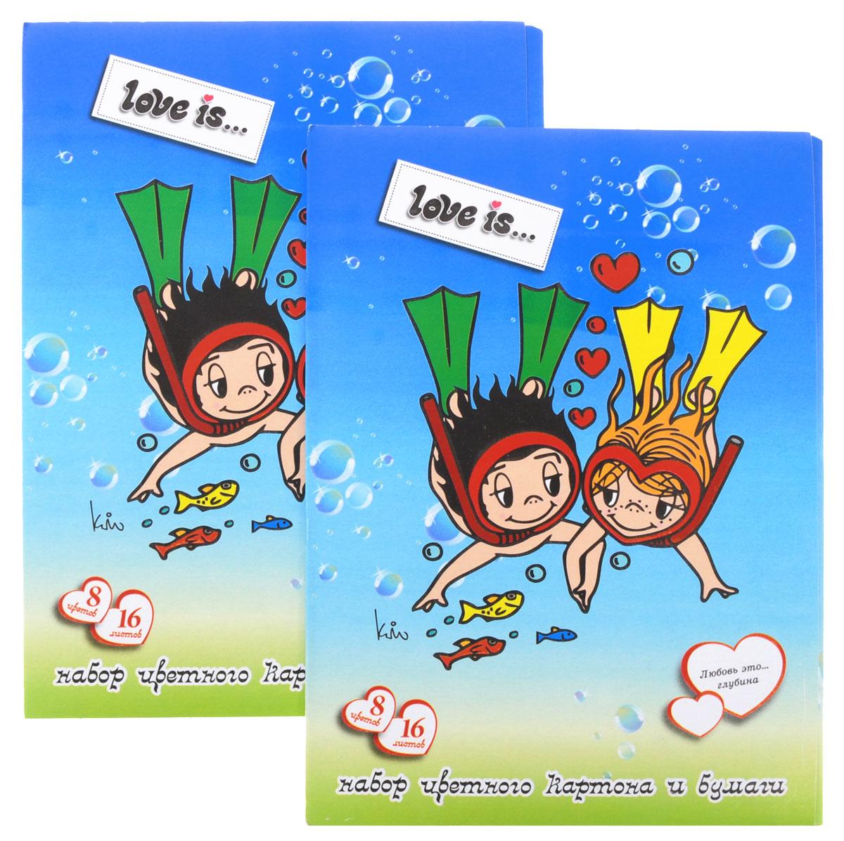 Action! Набор цветного картона и бумаги Love is... 16 листов 2 шт цвет голубойLI-CCP-16/8_голубойНабор цветного картона и бумаги Action! Love is... позволит вашему ребенку создавать всевозможные аппликации и поделки. Набор содержит 8 листов цветного картона и 8 листов цветной бумаги формата А4. Листы упакованы в оригинальную картонную папку, оформленную в тематике Love is.... Создание поделок из бумаги и картона поможет ребенку в развитии творческих способностей, кроме того, это увлекательный досуг. В комплекте 2 набора по 16 листов.