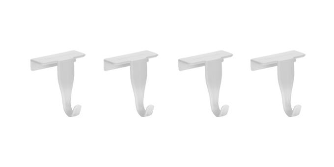 Крючки на дверцы кухонных шкафов Tescoma Presto, 4 шт420832Крючки Tescoma Presto выполнены из прочного пластика и предназначены для размещения на дверцах кухонных шкафов. На крючки удобно вешать полотенца, прихватки или кухонные принадлежности. В комплект входят 4 крючка. Размер крючков: 4,5 х 4 х 6 см.