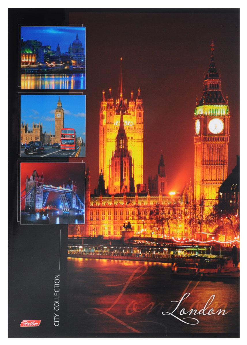 Hatber Тетрадь London 96 листов в линейку96Т4B4_10050_LondonТетрадь Hatber London отлично подойдет для занятий как школьнику, так и студенту. Стильная обложка с изображением лондонских достопримечательностей, выполненная из ламинированного картона, позволит сохранить тетрадь в аккуратном состоянии на протяжении всего времени использования. Внутренний блок тетради состоит из 96 листов белой бумаги в голубую линейку без полей.