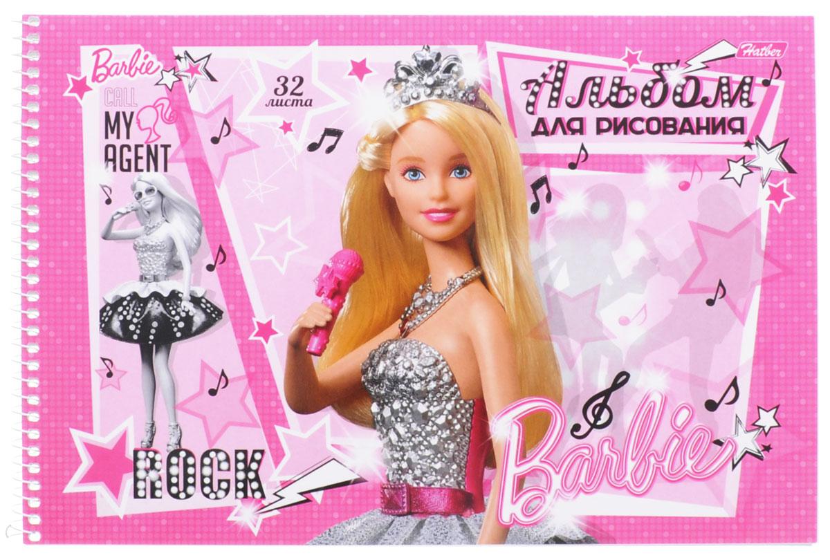 Hatber Альбом для рисования Barbie с микрофоном 32 листа32А4Bсп_14023_микрофонАльбом для рисования Hatber Barbie непременно порадует маленькую художницу и вдохновит ее на творчество. Альбом изготовлен из белоснежной бумаги с яркой обложкой из мелованного картона, оформленной изображением Барби. Внутренний блок состоит из 32 листов, скрепленных металлической спиралью. Высокое качество бумаги позволяет рисовать в альбоме карандашами, фломастерами, акварельными и гуашевыми красками.