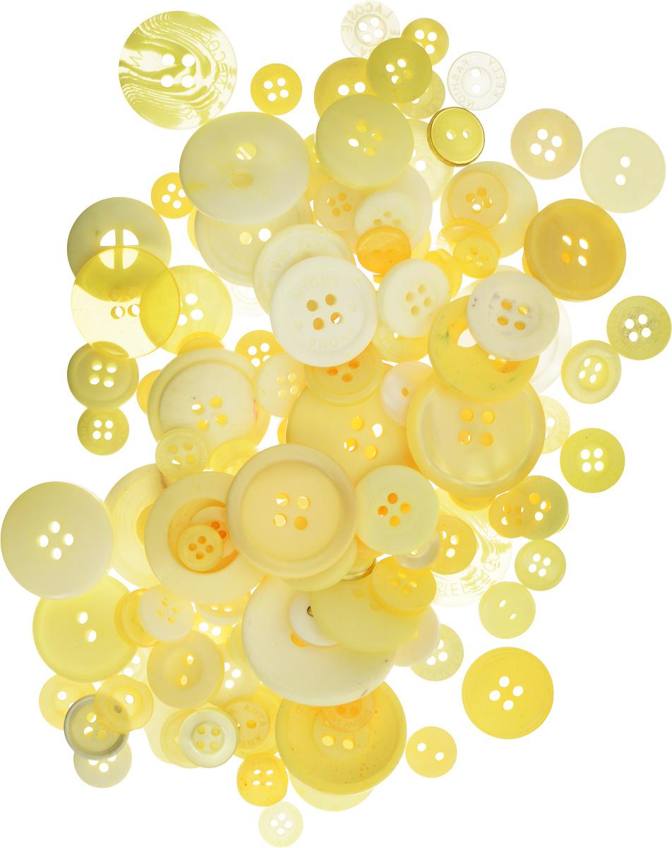Пуговицы декоративные Buttons Galore & More Color Blends, цвет: лимон, 85 г. 77088797708879_ЛимонНабор пуговиц для творчества и декорирования одежды Buttons Galore & More Color Blends изготовлен из высококачественного пластика. В набор входят пуговицы различных размеров и с разным количеством отверстий. Такие пуговицы подходят для любых видов творчества: скрапбукинга, декорирования, шитья, изготовления кукол, а также для оформления одежды. С их помощью вы сможете украсить открытку, фотографию, альбом, подарок и другие предметы ручной работы. Пуговицы имеют оригинальный и яркий дизайн. Средний диаметр пуговиц: 2 см.