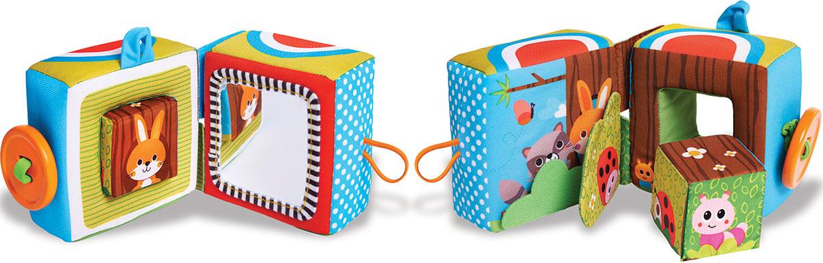 Tiny Love Книжка-игрушка Куб1502705830Игра станет интереснее с развивающей книжкой-игрушкой Tiny Love Куб. Книжка-игрушка Куб понравится как мальчикам, так и девочкам и подарит малышу яркие эмоции и впечатления. С этой игрушкой удобно играть, держать ее в руках, раскладывать и складывать, знакомиться с узнаваемыми персонажами. Игрушка содержит шуршащий элемент, погремушку, безопасное зеркальце, маленький кубик, пуговицу-прорезыватель. Книжка сложена в куб, а если расстегнуть пуговичку, куб разделится на две половинки и превратится в удивительную книжку. Для малышей очень важно получать информацию в виде развивающих игрушек, так как они многофункциональны и позволяют значительно расширить кругозор. В этой книжке живут различные обитатели - енот и зайка, божья коровка и гусеница, маленький птенчик и бабочки. Развивающие игрушки помогут малышу познавать окружающий мир во время игры, запоминать формы и цвета, знакомиться с геометрическими фигурами. Игрушки для новорожденных выполнены из...