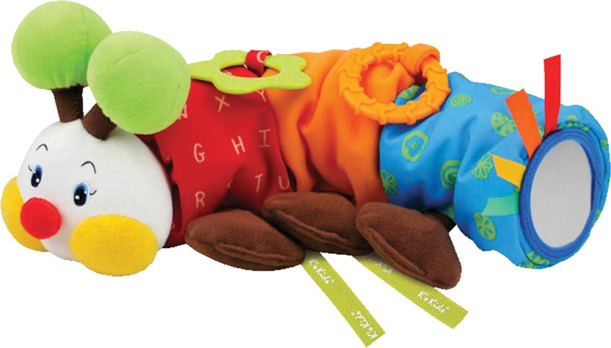 Ks Kids Развивающая игрушка ГусеничкаKA630Развивающая игрушка Ks Kids Гусеничка - это мягкая игрушка с разнообразием фактур и расцветок. Приятный на ощупь материал покрытия способствует развитию тактильных ощущений, яркие краски стимулируют цветовое и зрительное восприятие. Также гусеничка оснащена прорезывателями и зеркальцем. Игрушка способствует развитию цветового и слухового восприятия, концентрации внимани, улучшению тактильного восприятия, развитию моторики, воображения, мышления. Игрушка безопасна для детского здоровья.