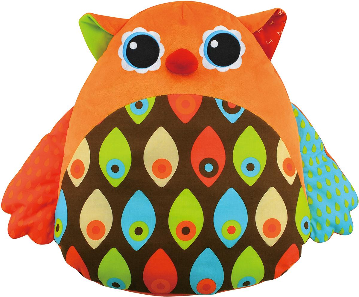 Ks Kids Интерактивная игрушка СоваKA661Музыкальная игрушка Ks Kids Сова подарит малышу отличное настроение и подойдет для развлечения небольшой компании детишек. Сова напоминает собой кресло-мешок, выполненное из приятной ткани, внутри которого прячутся электронные механизмы и музыкальные секреты. Такие игрушки для новорожденных будут не только развлекать, но и поспособствуют развитию координации движений, слуха и зрения. Играть с музыкальной совой захотят как мальчики, так и девочки. Суть игры очень проста, достаточно бегать вокруг кресла, пока играет мелодия, и как только музыка закончится, нужно успеть раньше других сесть на сову. Умная игрушка умеет поощрять ребенка веселыми звуками, если он сел вовремя и первым, а если ошибся, сова грустно ухает. Удобные размеры игрушки позволяю малышу расположиться в кресле и испробовать на себе вибрирующий массаж, который длится 3 минуты. Развивающие игрушки поощряют ребенка, учат его стремиться к получению новых навыков. Во время игры малыш развивает свой слух,...