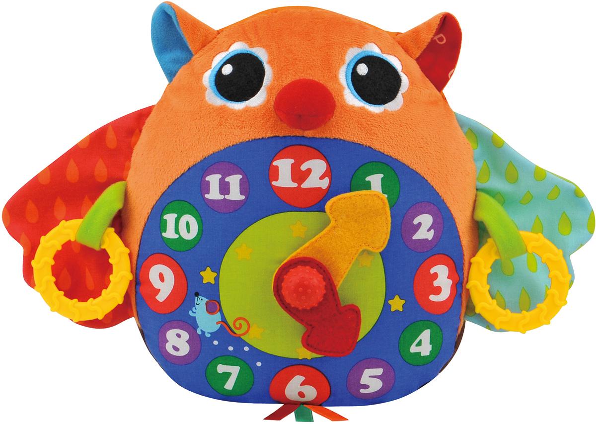 Ks Kids Развивающая игрушка Часы-СоваKA662Музыкальная Ks Kids Часы-Сова из разнофактурного материала с шуршалками и щёлкающим механизмом. Если потянуть одновременно за кольца слева и справа, то раздастся мелодия с тиканьем часов, всего 3 мелодии. Поможет выучить время.