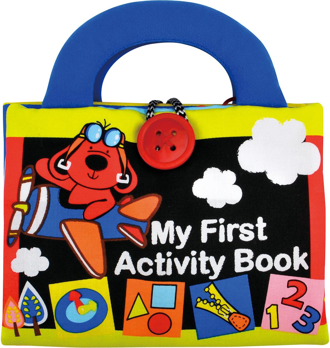 Ks Kids Книжка-игрушка My First Activity BookKA666Книжка-игрушка Ks Kids My First Activity Book - легкий и веселый способ обучить вашего ребенка простым и важным вещам. 10 ярких страниц со всевозможными петельками, липучками, пуговками, шнурками и молниями научат малыша не только завязывать и развязывать, открывать и закрывать разные типы застежек, но и считать, различать времена года, формы и цвета! Фактура книжки - мягкая, плотная и приятная на ощупь ткань. Книга имеет две удобные ручки-держателя и застегивается на большую пуговицу. Ваш малыш сам будет просить вас почитать ему такую книжку много раз! Игрушка My First Activity Book хорошо развивает моторику, воображение и помогает расширить словарный запас. Особенно подходит для детей в возрасте от 1 года до 3 лет. Продукция сертифицирована, экологически безопасна для ребенка, использованные красители нетоксичны и гипоаллергенны.