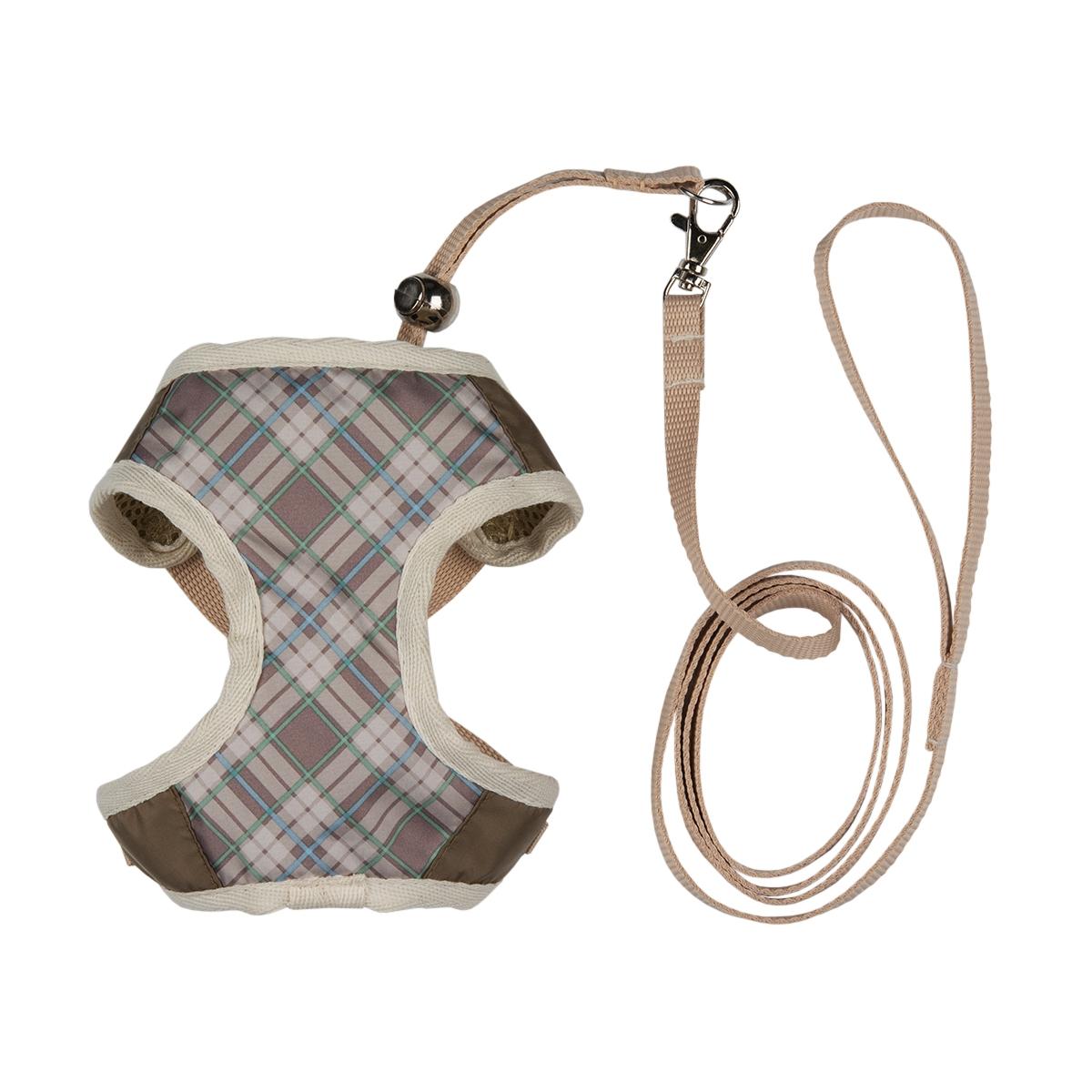 Шлейка для собак Dogmoda Ватсон, с поводком, цвет: бежевый, светло-коричневый. Размер 4 (XL)DM-130064-4_бежевыйШлейка Dogmoda Ватсон - это идеальная шлейка для маленьких собак, которая позволит вам контролировать поведение питомца во время прогулки, не стесняя его движений. Изделие выполнено таким образом, чтобы ткань нигде не давила животному, не натирала и не приносила болезненных ощущений. Шлейка выполнена из водоотталкивающего полиэстера. Она приятна на ощупь, легко стирается, не линяя и не теряя изначальную форму. Шлейка - это альтернатива ошейнику. Правильно подобранная шлейка не стесняет движения питомца, не натирает кожу, поэтому животное чувствует себя в ней уверенно и комфортно. Длина спины: 32 см. Обхват груди: 52 см. Обхват шеи: 33 см.