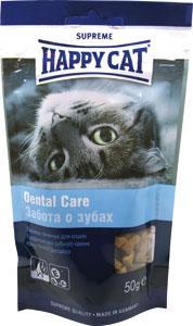 Лакомство для кошек Happy Cat, укрепление зубов и десен, 50 г190105Лакомство для кошек Happy Cat - это печенье для профилактики зубного камня с чистящим эффектом. Специальная форма и фактура печенья обеспечивает укрепление зубов и десен. Состав: злаки, мясо и животные продукты, рыба, масла и жиры, минеральные вещества, яйца, дрожжи. Анализ: протеин 28%, жир 14%, клетчатка 1%, зола 7,5. Добавки на кг: витамин А: 12 000; витамин D3: 840; витамин Е: 120 мг/кг. Товар сертифицирован.