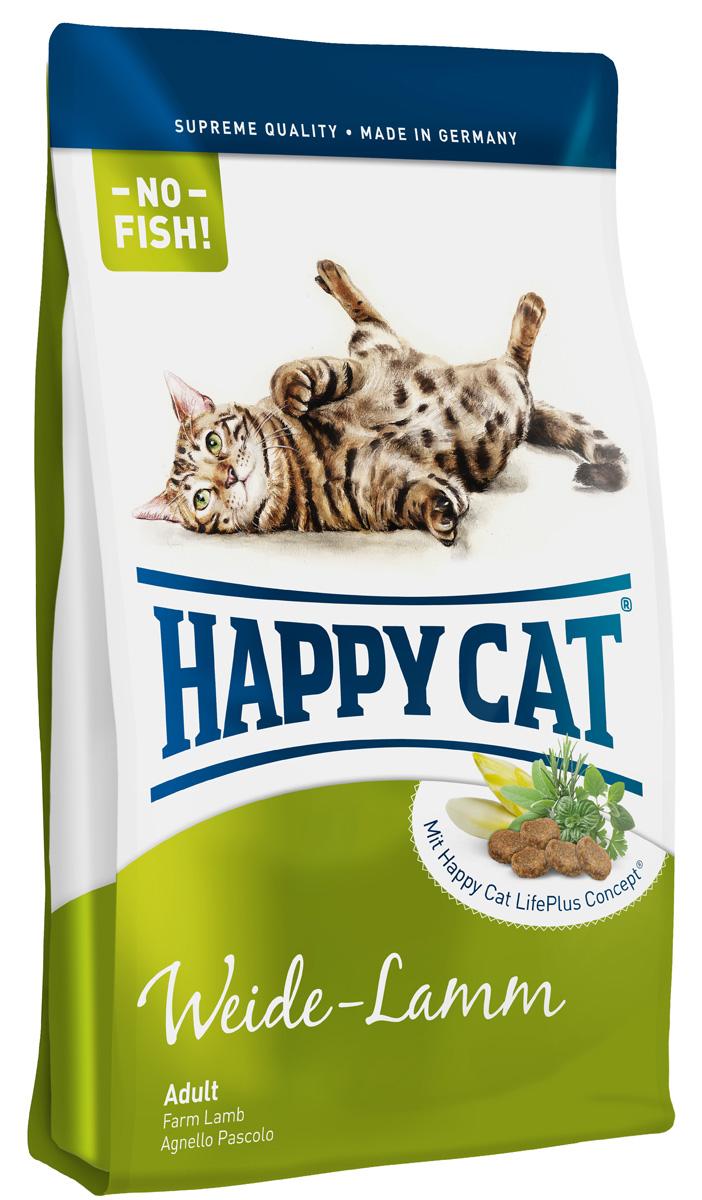 Корм сухой Happy Cat Adult Fit & Well для взрослых кошек с чувствительным пищеварением, с ягненком, 300 г70006Сухой корм Happy Cat Adult Fit & Well - это полноценный рацион для взрослых кошек с чувствительным пищеварением. Изготовлен из сырья высокого пищевого качества, без пшеницы, искусственных красителей, ароматизаторов и консервантов. Многие кошки отказываются от кормов на основе рыбы. Happy Cat Adult Fit & Well изготовленный без рыбных компонентов с легко перевариваемыми протеинами ягненка и птицы, не дающими лишней нагрузки пищеварительной системе - эксклюзивный деликатес для взрослых кошек. Состав: птица (13%), мясопродукты, рис, кукуруза, ягненок (8%), птичий жир, говяжий жир, картофельные хлопья, гидролизат печени, свекольная пульпа, печень, яблоко (0,7%), цельное яйцо, хлорид натрия, дрожжи, хлорид калия, ячмень (ферментированный, 0,3%), морские водоросли (0,2%), льняное семя (0,2%), корень цикория (0,04%), артишок, одуванчик, имбирь, березовый лист, крапива, шалфей, кориандр, розмарин, тимьян, корень солодки, ромашка, побеги вяза, черемша. (Всего трав: 0,17%). ...