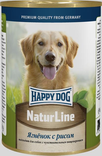 Консервы для собак Happy Dog Natur Line, ягненок с рисом, 400 г71434Консервы для собак Happy Dog Natur line - это сбалансированный натуральный мясной рацион для собак. Консервы изготовлены по оригинальной технологии Интерквелл ГмБХ, Германия, из натурального мяса и мясопродуктов. Не содержит сои, искусственных красителей, консервантов и ГМО. Подходят для собак с чувствительным пищеварением. Состав: мясо ягненка, рис , витаминно-минеральный комплекс, растительного масла. Аналитический состав: протеин 11%, жир 4,5%, клетчатка 0,5%, влажность 80%. Товар сертифицирован.