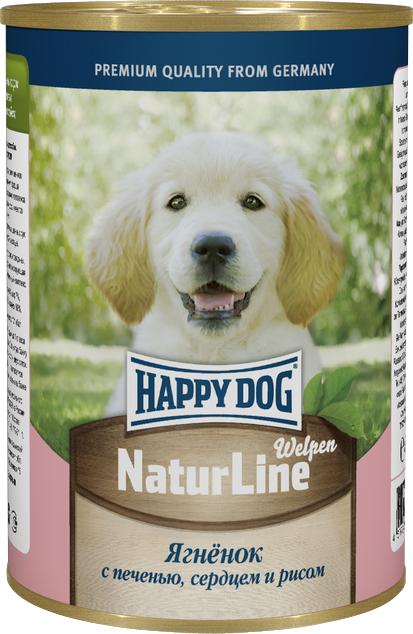 Консервы для собак Happy Dog Natur Line, ягненок с печенью, сердцем и рисом, 400 г72189Консервы для собак Happy Dog Natur line - это сбалансированный натуральный мясной рацион для собак. Консервы изготовлены по оригинальной технологии Интерквелл ГмБХ, Германия, из натурального мяса и мясопродуктов. Не содержит сои, искусственных красителей, консервантов и ГМО. Подходят для собак с чувствительным пищеварением. Состав: баранина, субпродукты говядины, мясо птицы, рис, натуральная желирующая добавка, витаминно-минеральный комплекс. Аналитический состав: протеин 8 %, жир 7 %, углеводы 4 %, зола 2 %, влага 80%. Товар сертифицирован.
