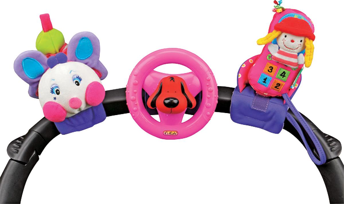 Набор развивающих игрушек Веселое трио на коляскуKA581В набор Веселое трио входят три игрушки: симпатичная гусеница, оригинальный руль с собачкой Патриком и забавный телефон с куколкой. Каждая из игрушек крепится с помощью липучек на кроватку малыша, прогулочную коляску или руку ребенка. Все игрушки содержат развивающие элементы: при повороте руля с пищалкой издается забавный треск, телефон с куклой выполняет функцию погремушки, а веселая гусеница может растягиваться и вибрировать. Если потянуть за хвост гусеницы, то он, вибрируя, вернется обратно. Набор Веселое трио развивает концентрацию внимания, цветовое восприятие, а также воображение и моторику и превратит прогулку и отдых в настоящее развлечение. Игрушки оказывают влияние на физическое развитие ребенка: развивают моторику рук, помогают укрепить познания ребенка в логике, развивают коммуникативные навыки и повышают самооценку малыша. Ks Kids - это развивающие игрушки и аксессуары для детей, в том числе новорожденных. Коврики, мягкие и музыкальные...