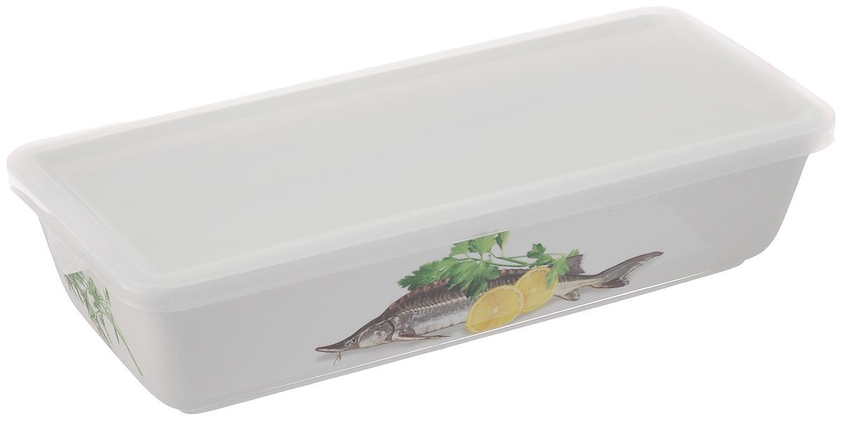 Блюдо для холодца Elan Gallery Осетр, с крышкой, 1 л101216Блюдо для холодца Elan Gallery Осетр, изготовленное из высококачественной керамики, предназначено для приготовления и хранения заливного или холодца. Пластиковая крышка, входящая в комплект, сохранит свежесть вашего блюда. Также блюдо можно использовать для приготовления и хранения салатов. Оформлено изделие оригинальным рисунком. Такое блюдо украсит сервировку вашего стола и подчеркнет прекрасный вкус хозяйки. Не использовать в микроволновой печи. Размер блюда: 28 х 13 х 6,5 см.