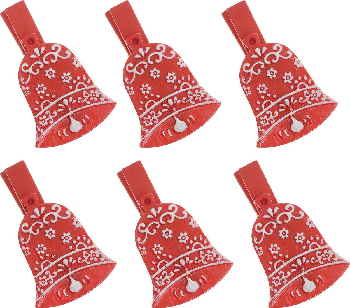 Набор новогодних декоративных украшений Lunten Ranta Колокольчик, на прищепке, цвет: красный, 6 шт67649_колокольчик красныйНабор Lunten Ranta Колокольчик состоит из 6 декоративных украшений - прищепок, изготовленных из полирезины и дерева. Изделия станут прекрасным дополнением к оформлению вашего новогоднего интерьера. Они используются для развешивания стикеров на веревке, маленьких игрушек и многого другого. Оригинальность и веселые цвета прищепок будут радовать глаз и поднимут настроение. Длина прищепки: 4,5 см. Размер декоративной части прищепки: 3,5 х 3 см.