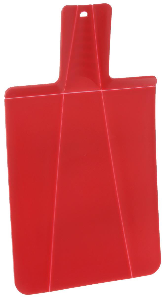 Доска разделочная Mayer & Boch, складная, цвет: красный, 21 х 37 см22178_красныйРазделочная доска Mayer & Boch изготовлена из высококачественного полипропилена. Умный дизайн рукоятки позволяет с легкостью складывать, а также разворачивать доску. При сжатии ручки края доски складываются, образуя форму лотка. Это позволяет с легкостью и быстротой переносить нарезанные продукты. Такая доска не помнется, не сломается и не пойдет трещинами. Компактная доска Mayer & Boch прекрасно подойдет даже для небольшой поверхности стола и не займет много места при хранении.