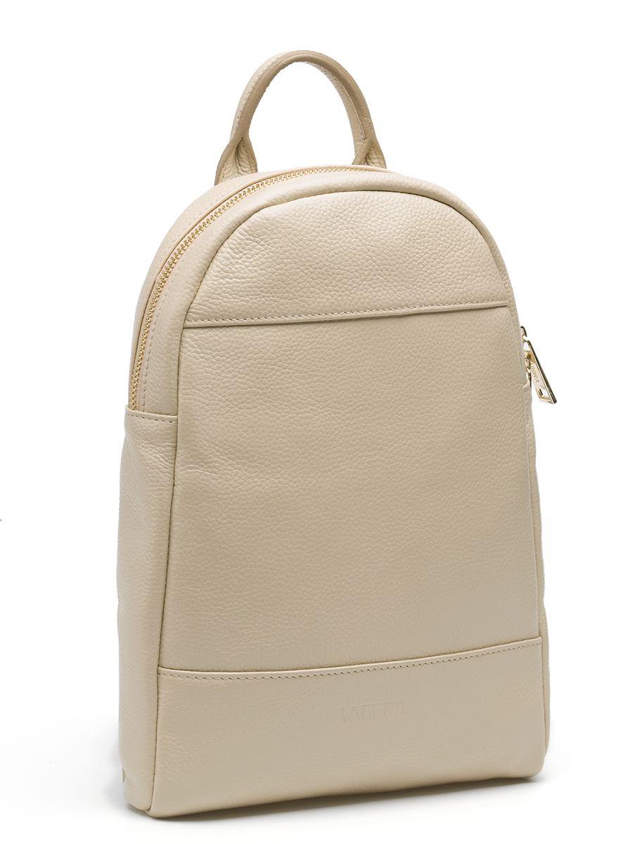 Рюкзак женский Labbra, цвет: бежевый. L-9427L-9427Оригинальный рюкзак Labbra выполнен из натуральной кожи с зернистой фактурой, декорирован золотистой фурнитурой, декоративной прострочкой и тиснением в виде символики бренда. Рюкзак имеет вместительное основное отделение, которое закрывается на застежку-молнию, и вертикальный прорезной карман на молнии с тыльной стороны изделия. Внутри имеется прорезной карман на застежке-молнии и один накладной карман для телефона и мелочей. Изделие оснащено удобной ручкой для переноски и практичными лямками из натуральной кожи, которые регулируются по длине и могут быть соединены в одну посредством молнии. Прилагается фирменный текстильный чехол для хранения. Рюкзак Labbra - это выбор молодой, уверенной, стильной женщины, которая ценит качество и комфорт. Изделие станет изысканным дополнением к вашему образу.