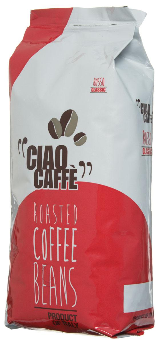 Ciao Caffe Rosso Classic кофе в зернах, 1 кг8016115000400Ciao Caffe Rosso Classic - традиционная итальянская смесь Арабики и Робусты. Этот изысканный напиток имеет интенсивный и полный устойчивый вкус. Средняя обжарка.