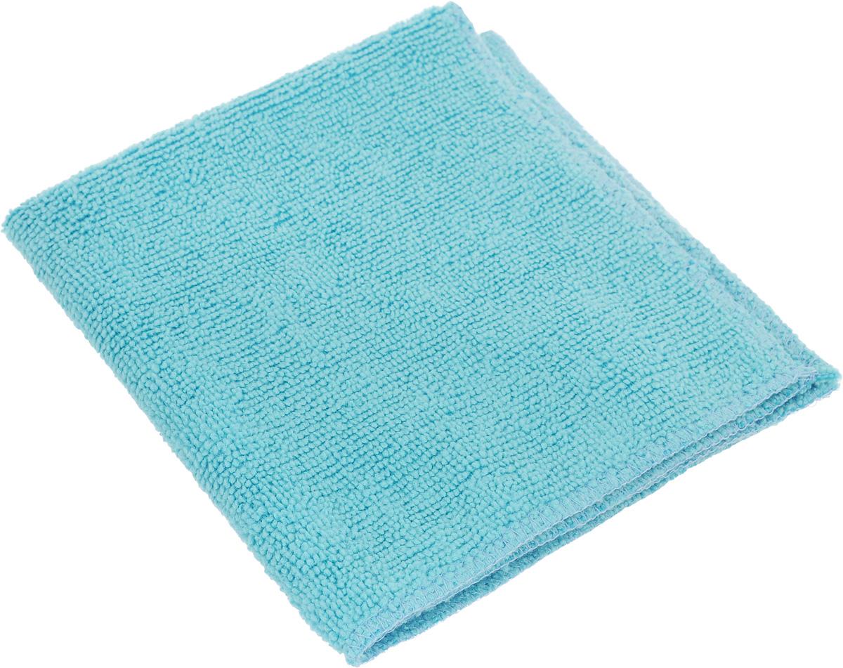 Салфетка для влажной уборки Eva, цвет: голубой, 30 х 30 смЕ4801_голубойСупервпитывающая салфетка Eva, изготовленная из микрофибры, прекрасно подойдет для влажной уборки. Изделие обладает высокой износоустойчивостью и рассчитано на многократное использование, легко моется в теплой воде с мягкими чистящими средствами. Супервпитывающая салфетка не оставляет разводов и ворсинок, удаляет большинство жирных и маслянистых загрязнений без использования химических средств.
