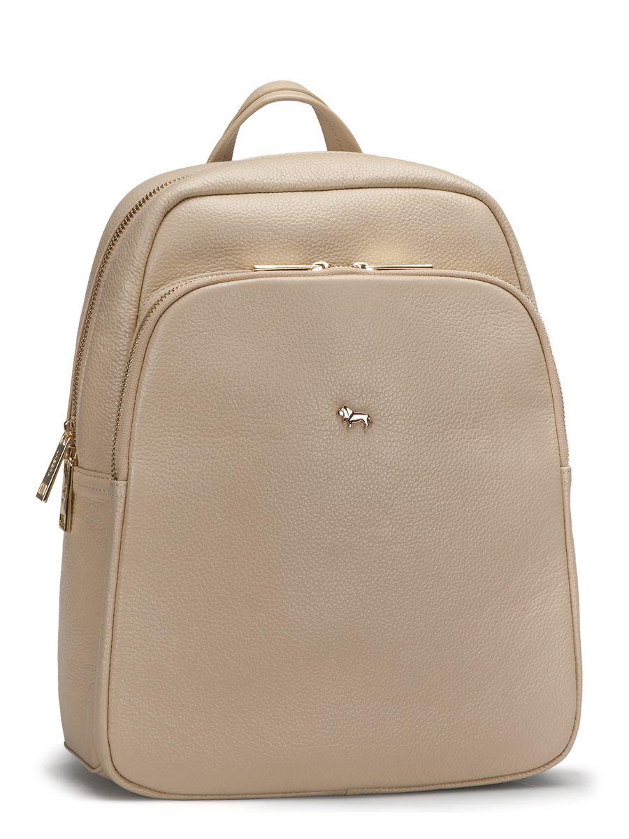 Рюкзак женский Labbra, цвет: бежевый. L-SD1040L-SD1040Оригинальный рюкзак Labbra выполнен из натуральной кожи с зернистой фактурой и декорирован золотистой фурнитурой. Рюкзак имеет вместительное основное отделение, которое закрывается на застежку-молнию, вертикальный прорезной карман на молнии с тыльной стороны изделия и большой накладной карман на застежке-молнии спереди. Внутри имеется прорезной карман на молнии и два накладных кармана для телефона и мелочей. Изделие оснащено удобной ручкой для переноски и практичными лямками из натуральной кожи, которые регулируются по длине. Прилагается фирменный текстильный чехол для хранения. Рюкзак Labbra - это выбор молодой, уверенной, стильной женщины, которая ценит качество и комфорт. Изделие станет изысканным дополнением к вашему образу.