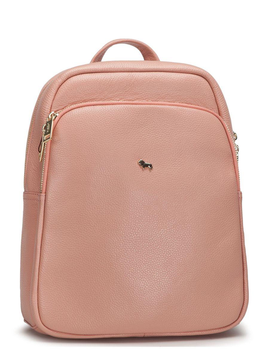 Рюкзак женский Labbra, цвет: светло-розовый. L-SD1040L-SD1040Оригинальный рюкзак Labbra выполнен из натуральной кожи с зернистой фактурой и декорирован золотистой фурнитурой. Рюкзак имеет вместительное основное отделение, которое закрывается на застежку-молнию, вертикальный прорезной карман на молнии с тыльной стороны изделия и большой накладной карман на застежке-молнии спереди. Внутри имеется прорезной карман на молнии и два накладных кармана для телефона и мелочей. Изделие оснащено удобной ручкой для переноски и практичными лямками из натуральной кожи, которые регулируются по длине. Прилагается фирменный текстильный чехол для хранения. Рюкзак Labbra - это выбор молодой, уверенной, стильной женщины, которая ценит качество и комфорт. Изделие станет изысканным дополнением к вашему образу.