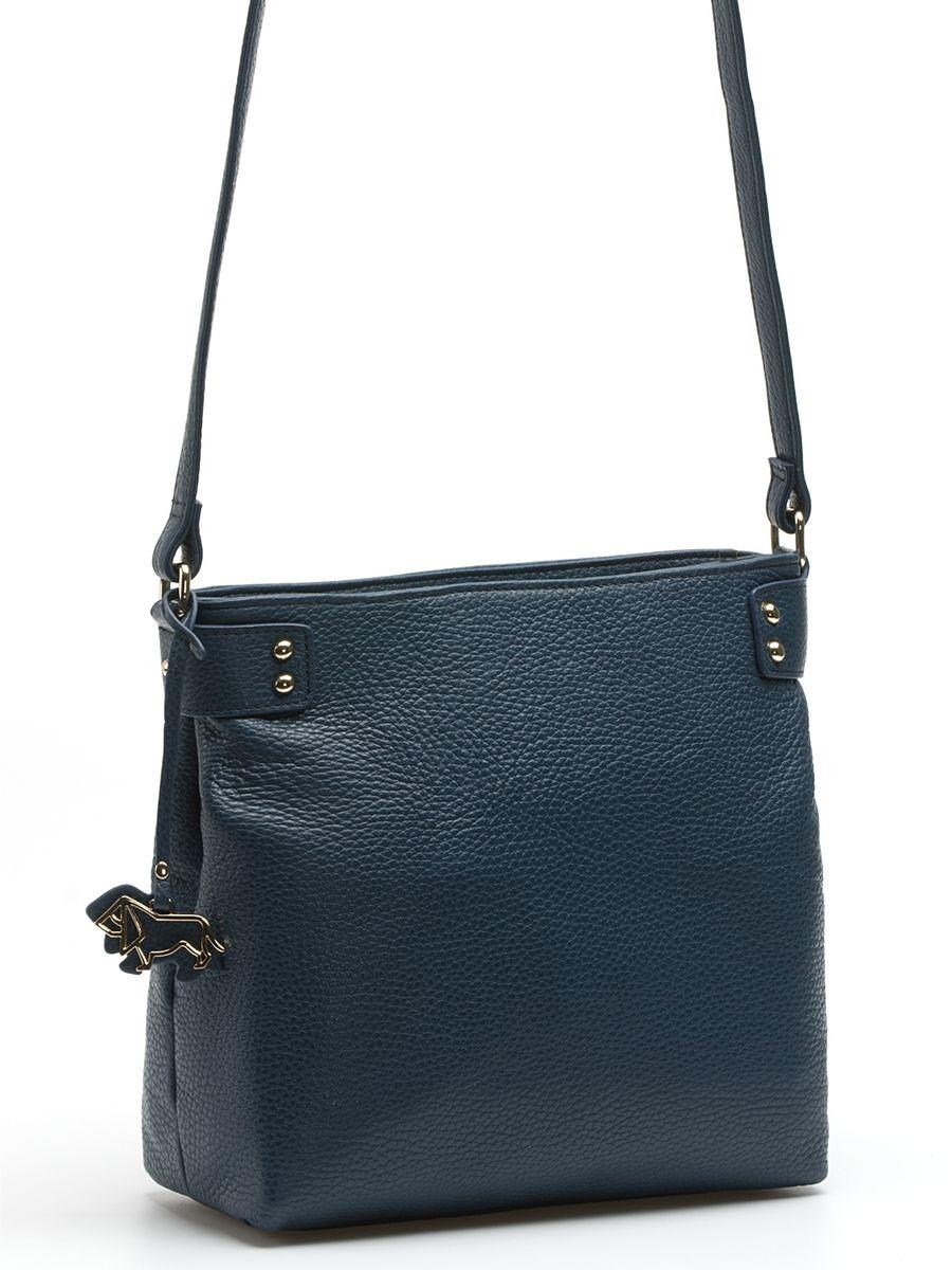 Сумка женская Labbra, цвет: синий. L-XKB811L-XKB811Практичная и изящная сумка Labbra выполнена из натуральной кожи с зернистой фактурой, дополнена золотистой фурнитурой и подвеской в виде символики бренда Сумка закрывается на молнию, внутри имеет два вместительных отделения на застежке-молнии, два накладных кармана и один вшитый карман на молнии. На внешней стороне находится прорезной карман на застежке-молнии. Изделие комплектуется удобным плечевым ремнем. br> Роскошная сумка Labbra - это выбор молодой, уверенной, стильной женщины, которая ценит качество и комфорт. Изделие станет изысканным дополнением к вашему образу.