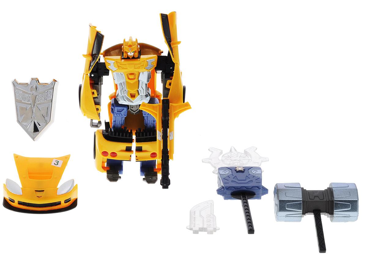 Happy Well Робот-трансформер Chevrolet Corvette C6R52070hwИгрушка робот-трансформер Chevrolet Corvette C6R - это удивительная игрушка, позволяющая совмещать два в одном - робота и машинку. Робот без особого труда трансформируется в модель автомобиля. Ребенок может играть по желанию с игрушечным роботом или же с машинкой. Трансформер - машинка Chevrolet Corvette C6R светится и у нее открывается багажник и двери. Если ребенку надоест машинка, он с легкостью соберет обратно робота. Игрушка робот- трансформер выполнена в масштабе 1:32. Если нажать на специальную кнопку на оружии робота, то оно будет подсвечиваться красным цветом. Игрушка робот-трансформер хорошо развивает мышление, память и воображение ребенка. Для работы требуются 2 батарейки AG13 (комплектуется демонстрационными).