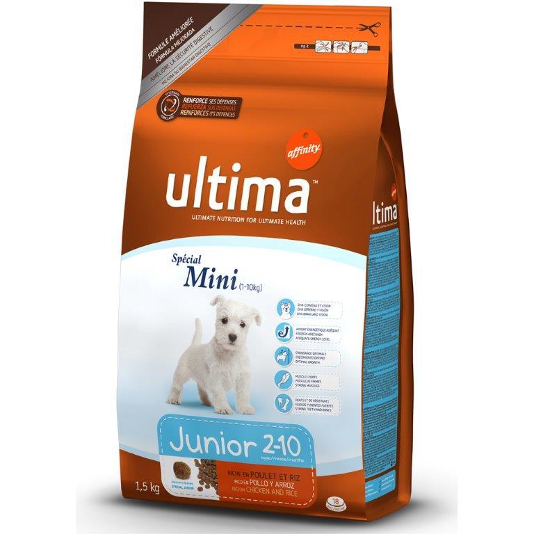 Корм для щенков мини-пород ULTIMA UHD SPC MINI JUNIOR с курицей, рисом, злаками, 1,5 кг1850021