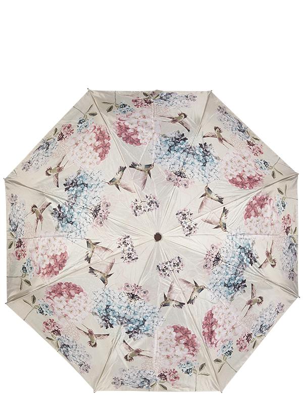 Зонт женский Eleganzza, автомат, 3 сложения, цвет: бежевый. A3-05-0255LA3-05-0255LЖенский зонт-автомат ELEGANZZA. Материал купола 100% полиэстер, сатин. Материал каркаса: сталь + фибергласс. Материал ручки: пластик. Длина изделия - 30 см, диаметр купола - 105 см.