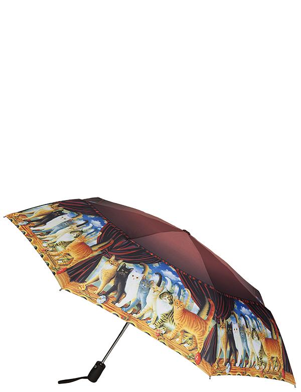 Зонт женский Eleganzza, автомат, 3 сложения, цвет: лиловый. A3-05-0256A3-05-0256Женский зонт-автомат ELEGANZZA. Материал купола 100% полиэстер, эпонж. Материал каркаса: сталь + фибергласс. Материал ручки: пластик. Длина изделия - 28 см, диаметр купола - 98 см.
