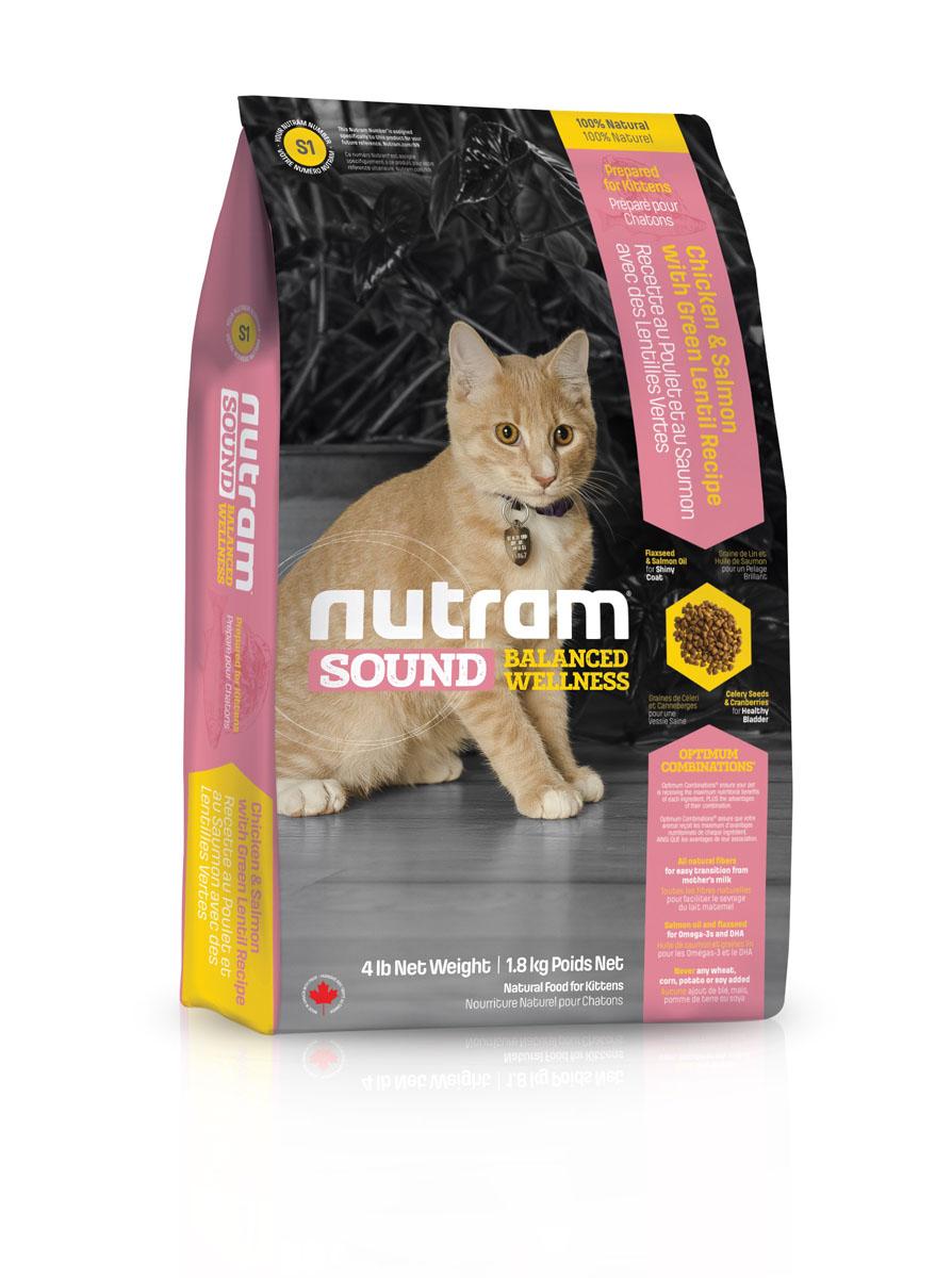Сухой корм для котят S1 Nutram Sound Balanced Wellness Kitten Food - 1.8KG83085Целостный (holistic), полезный, богатый питательными веществами корм, который улучшает самочувствие и здоровье питомцев по принципу «изнутри наружу». Рецептура разработана на основе Оптимальных СочетанийTM жира лососевых рыб и семян льна, источников Омега-3 жирных кислот, необходимых для поддержки нормального развития. Клюква, естественный подкислитель, и семена сельдерея, эффективное мочегонное, регулируют баланс жидкости в организме. Благодаря им поддерживаются уровень рН и уровень золы в моче, что способствует здоровью мочеполовой системы. • Содержит мясо курицы, лосося и зеленую чечевицу • Натуральная клетчатка помогает сделать переход от материнского молока к корму более легким • Жир лососевых рыб и семена льна используются в качестве источника полиненасыщенных и Омега-3 жирных кислот • Не содержит пшеницу, кукурузу, картофель или сою в любом виде.