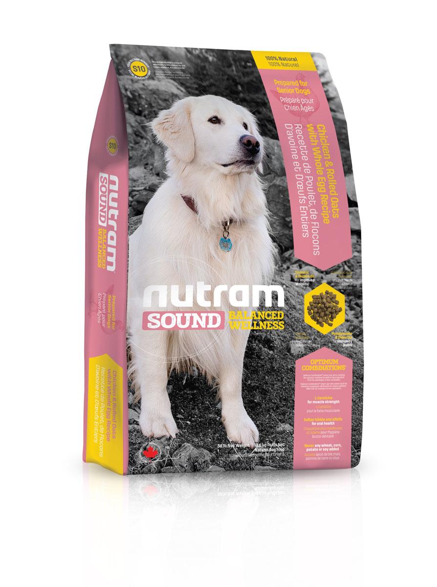 Сухой корм для пожилых собак S10 Nutram Sound Senior Dog - 2.72 КГ83103Целостный (holistic), полезный, богатый питательными веществами сухой корм для собак, который улучшает самочувствие и здоровье питомцев по принципу «изнутри наружу». Подход Nutram к целостному питанию начинается с улучшения подвижности. Оптимальное Сочетание™ жира лососевых рыб, богатых Омега- 3 жирными кислотами, и куркумы, источника куркумина, которые обладают противовоспалительными свойствами, положительно влияют на подвижность суставов. L-карнитин, уменьшая жировые отложения и поддерживая мышцы в тонусе, также помогает сохранить активность. Крепкий иммунитет является залогом хорошего здоровья пожилых собак. Гранат и зеленый чай обладают отличными антиоксидантными свойствами, которые усиливают естественные защитные силы организма. • Корм для собак S10 содержит мясо курицы, овсяные хлопья и цельные яйца • L-карнитин поддерживает мышечную массу в тонусе • Более мягкие гранулы корма, которые легче разгрызать пожилым собакам и люцерна для свежего дыхания • Не содержит пшеницу,...