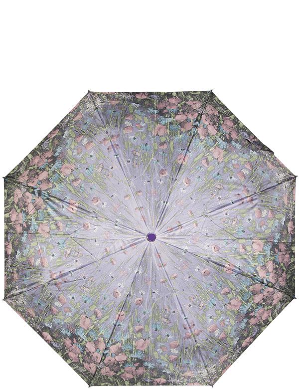 Зонт женский Eleganzza, автомат, 3 сложения, цвет: лиловый. A3-05-0261A3-05-0261Женский зонт-автомат ELEGANZZA. Материал купола 100% полиэстер, сатин. Материал каркаса: сталь + фибергласс. Материал ручки: пластик. Длина изделия - 28 см, диаметр купола - 98 см.