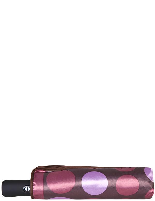 Зонт женский Eleganzza, автомат, 3 сложения, цвет: коричневый. A3-05-0277LSA3-05-0277LSЖенский зонт-автомат торговой марки ELEGANZZA с каркасом Smart, который позволяет без особых усилий складывать зонт, не позволяя стержню вылетать обратно. Купол: 100% полиэстер, сатин. Материал каркаса: сталь + алюминий + фибергласс. Материал ручки: пластик. Длина изделия - 30 см. Диаметр купола - 105 см. Система Smart, не позволяет стержню при сложении вылететь обратно, это облегчает сложение зонта! При сложении есть характерный звук-треск, как трещетка. Примечание: зонт не откроется с кнопки если его не закрыть до щелчка!
