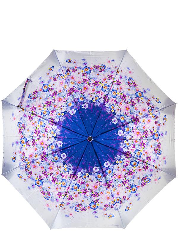 Зонт женский Eleganzza, автомат, 3 сложения, цвет: синий. A3-05-0288LSA3-05-0288LSЖенский зонт-автомат торговой марки ELEGANZZA с каркасом Smart, который позволяет без особых усилий складывать зонт, не позволяя стержню вылетать обратно. Купол: 100% полиэстер, сатин. Материал каркаса: сталь + алюминий + фибергласс. Материал ручки: пластик. Длина изделия - 30 см. Диаметр купола - 105 см. Система Smart, не позволяет стержню при сложении вылететь обратно, это облегчает сложение зонта! При сложении есть характерный звук-треск, как трещетка. Примечание: зонт не откроется с кнопки если его не закрыть до щелчка!