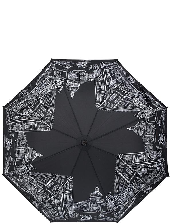 Зонт женский Eleganzza, полуавтомат, 3 сложения, цвет: черный. T-05-0200T-05-0200Женский зонт-трость торговой марки ELEGANZZA с матовой пластиковой ручкой. Купол: 100% полиэстер. Каркас: спицы - фибергласс, стержень-сталь. Тип механизма-полуавтомат. Диаметр купола - 103 см. Чехол имеет две ручки, что позволяет носить зонт на плече.