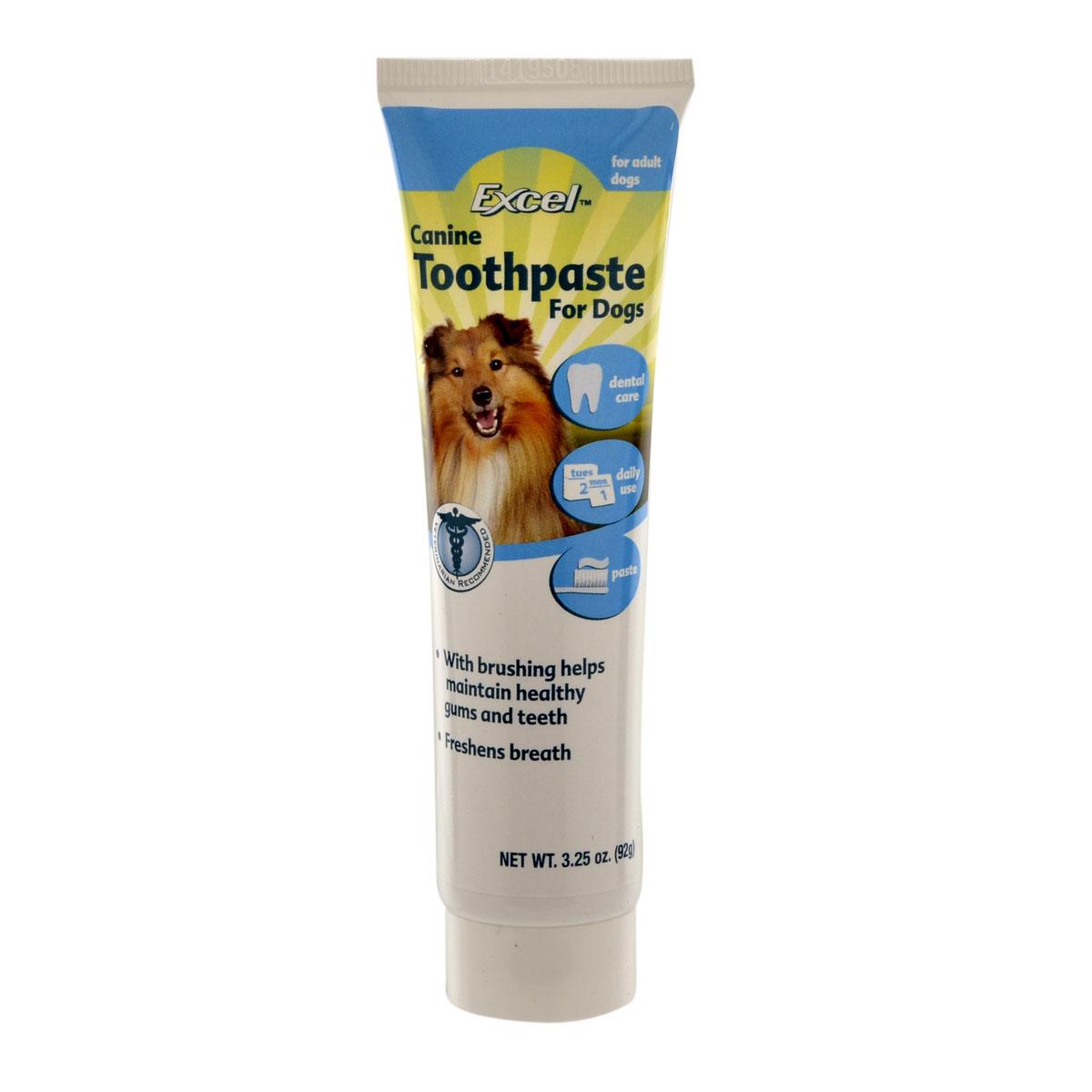 Зубная паста для собак 8in1 Excel Canine Toothpaste свежее дыхание 92 г10740388in1 зубная паста для собак Excel Canine Toothpaste свежее дыхание 92 г Зубная паста помогает сохранить здоровье зубов и десен вашей собаки. Благодаря специальным компонентам паста очищает зубы, снимает зубной налет, уничтожает болезнетворные бактерии и убирает неприятный запах из пасти. Регулярное применение пасты профилактирует образование зубного камня.
