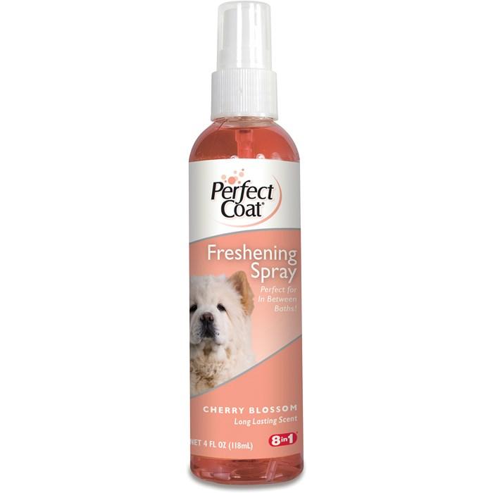 Спрей для собак 8in1 PC Freshening Spray освежающий с ароматом цветущей вишни 118 мл18272148in1 Freshening Spray Cherry Blossom освежающий спрей с ароматом цветущей вишни. Спрей для ухода за шерстью в промежутках между купаниями. Алоэ Вера смягчает и увлажняет кожу и шерсть, кондиционеры, обеспечивают легкое расчесывание и обладают антистатическим действием. После обработки средством шерсть надолго сохраняет приятный аромат. Применение: Распылите средство на шерсть с расстояния 15 см, избегая попадания в глаза. Не сушит кожу и подходит для частого применения. Форма выпуска: спрей 118 мл.