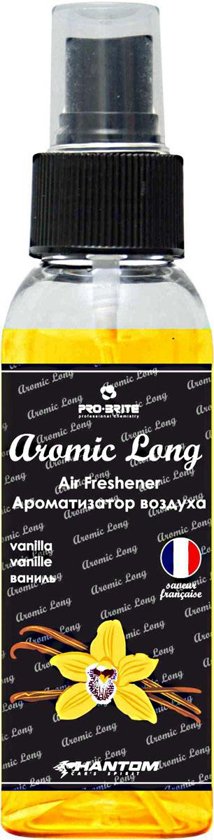 Ароматизатор воздуха автомобильный Phantom Aromic Long, ваниль, спрей 100 млРН4050Ароматизатор воздуха на основе натуральных отдушек с насыщенным ароматом. Применим в любых помещениях и салонах автомобилей. Нейтрализует неприятные запахи и придает воздуху свежесть.