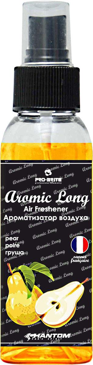 Ароматизатор воздуха автомобильный Phantom Aromic Long, груша, спрей 100 млРН4048Ароматизатор воздуха на основе натуральных отдушек с насыщенным ароматом. Применим в любых помещениях и салонах автомобилей. Нейтрализует неприятные запахи и придает воздуху свежесть.