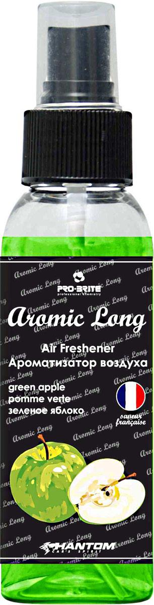 Ароматизатор воздуха автомобильный Phantom Aromic Long, зеленое яблоко, спрей 100 млРН4046Ароматизатор воздуха на основе натуральных отдушек с насыщенным ароматом. Применим в любых помещениях и салонах автомобилей. Нейтрализует неприятные запахи и придает воздуху свежесть.