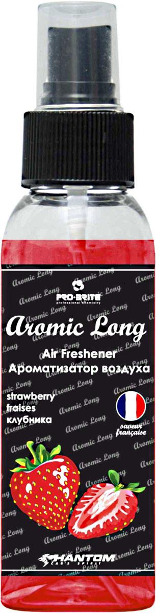 Ароматизатор воздуха автомобильный Phantom Aromic Long, клубника, спрей 100 млРН4043Ароматизатор воздуха на основе натуральных отдушек с насыщенным ароматом. Применим в любых помещениях и салонах автомобилей. Нейтрализует неприятные запахи и придает воздуху свежесть.