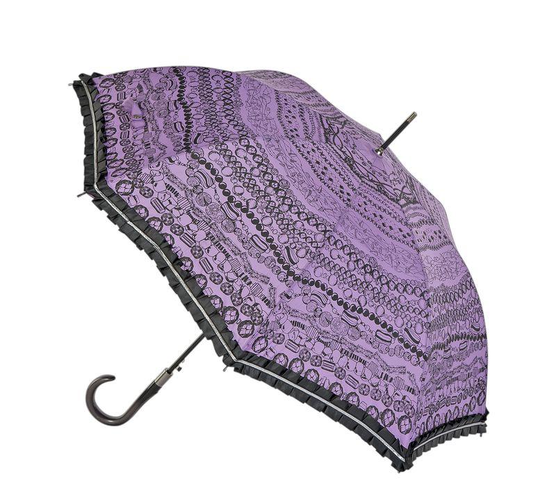 Зонт женский Eleganzza, полуавтомат, 3 сложения, цвет: лиловый. T-06-0438T-06-0438Женский зонт-трость торговой марки ELEGANZZA. Купол: 100% полиэстер, эпонж. Материал каркаса: сталь + фибергласс. Материал ручки: акрил. Длина изделия - 89 см. Диаметр купола - 105 см.