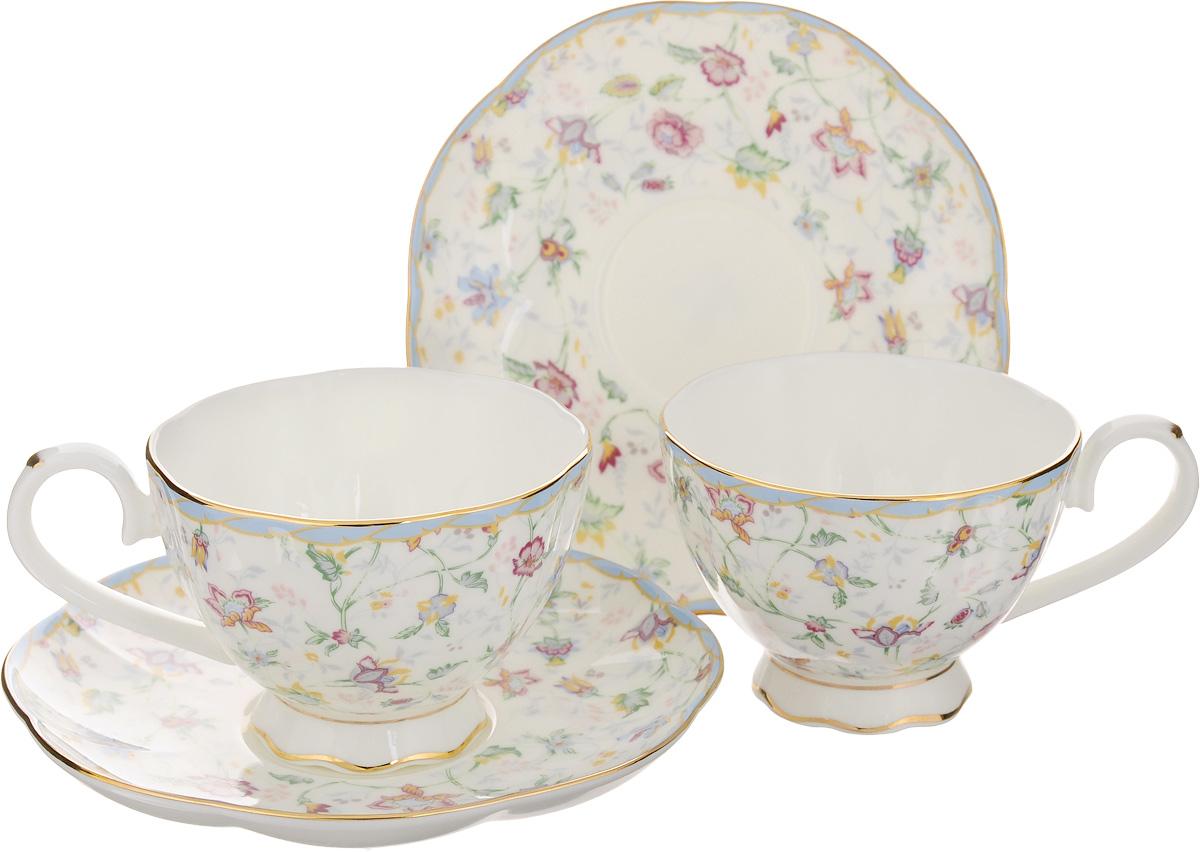 """Набор чайный Elan Gallery """"Цветочный каприз"""", 4 предмета 530043"""