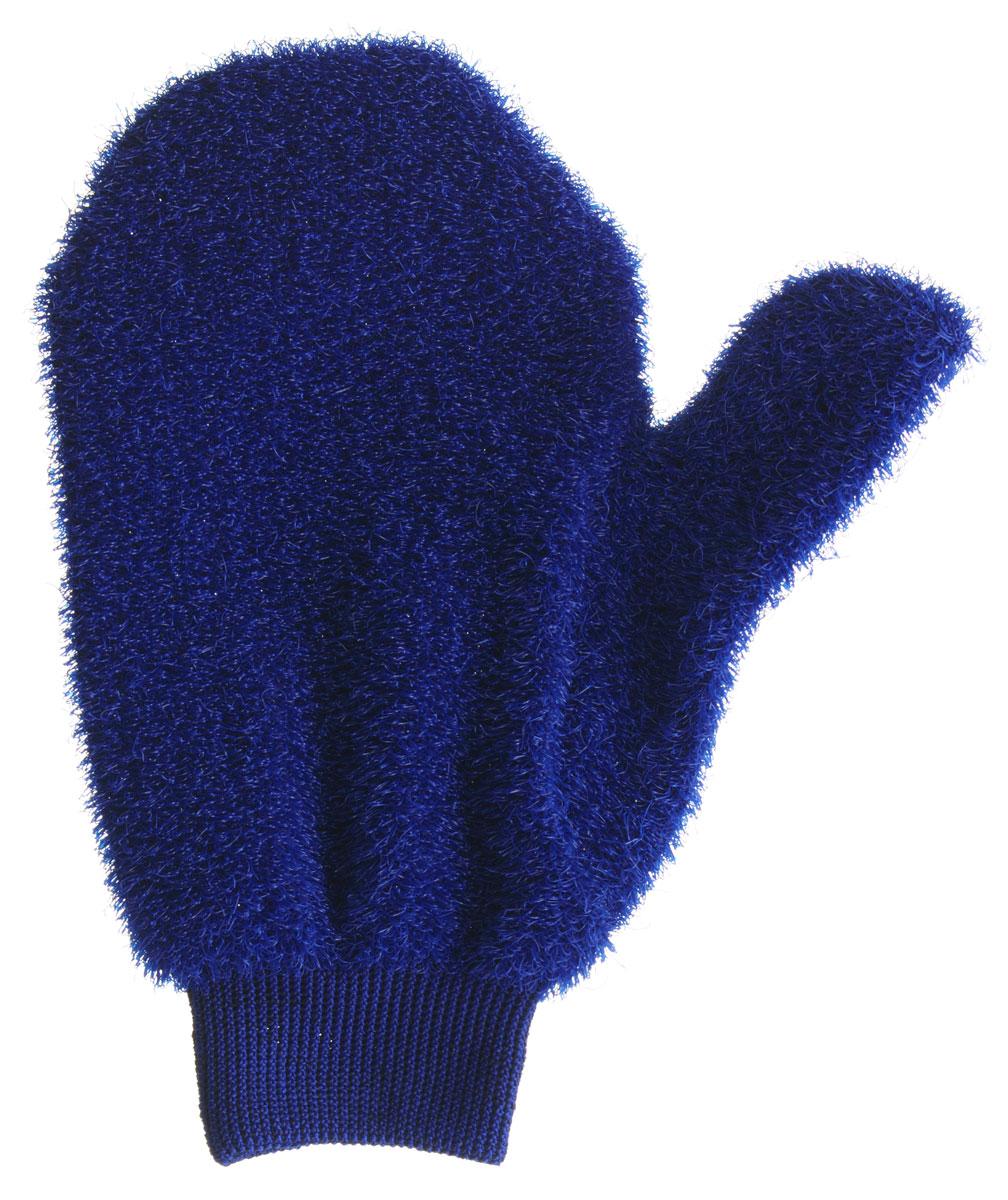 Мочалка-рукавица массажная Riffi, жесткая, цвет: синий750_синий